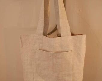 Simple Classic Linen Tote