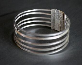 Silver Cuff Bracelet - Silver Bangle - Sterling Silver - Handmade Bracelet
