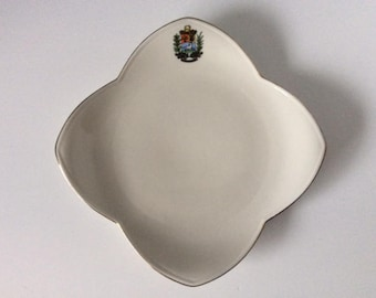 Square Bone China Salad Dessert Plate | Alka Kunst | West Germany | Collectible