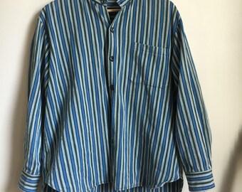 Vintage stripped jacket // retro mens vintage SIZE S-M