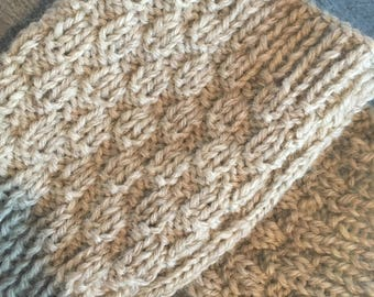 100% Wool Textured Ladies Fingerless Gloves // Gifts for Her // Handmade