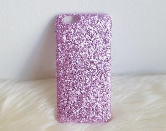 Lilac Glitter iPhone Hard Case For 5/5S/SE,  6/6S, 6/6S Plus, 7 & 7 Plus