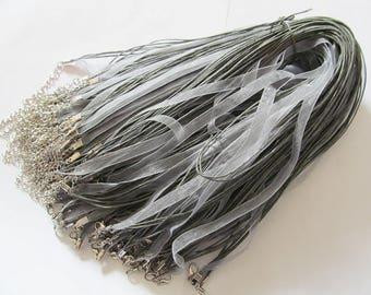 Gray Ribbon Cords