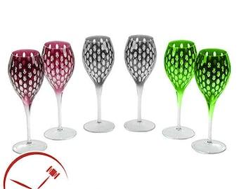 Beykoz Glass, Goblet of Water Cut Well-Wine 6