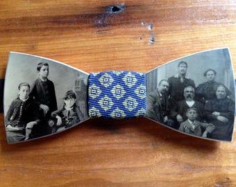 Vintage Tintype Bow Tie
