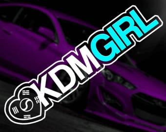 KDM Girl Car Vinyl Sticker