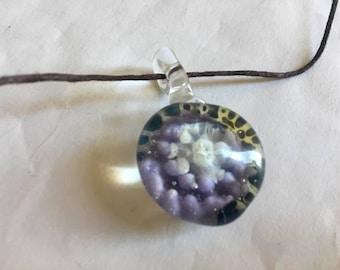 Purple Blue Midnight Lotus Pendant