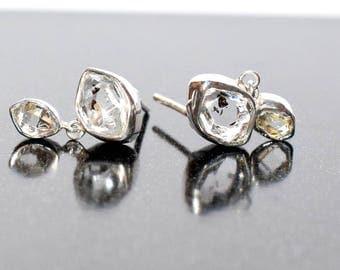 Herkimer Diamond Earring in Sterling Silver