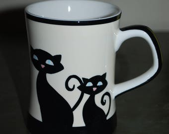 Heus'n'brews coffee mug-black cats//collectible