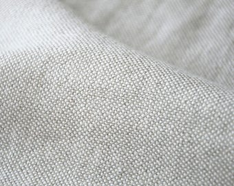 Linen fabric, washed linen, 340 gsm. Natural gray color. Linen fabric by the meters, linen by the yard