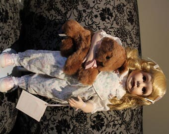 Vintage Hamilton Dolls Jane Zildjunas Jennifer Porcelain Doll Collectible