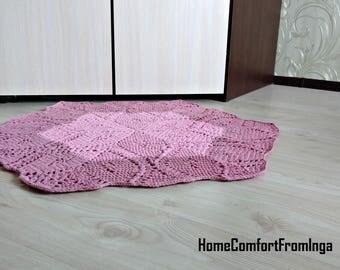 High Quality Big Rug, Pink Rug, Crochet Rug, Girls Bedroom, Carpet For Kitchen,