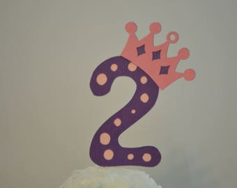 2nd Birthday Princess Cupcake Toppers