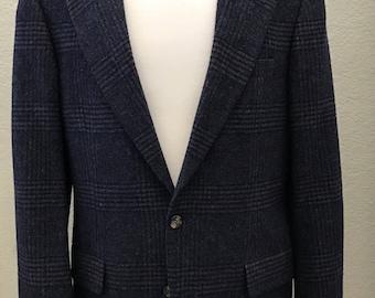 Nordstrom Navy Blue 100% Camel Hair Sport Coat Jacket - Very Soft