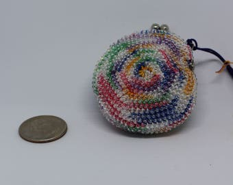 Handmade Beaded Coin purse