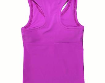 Activewear - Purple Yokeback Tank