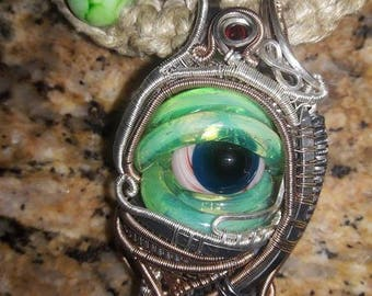 Monster Eye Pendant Necklace