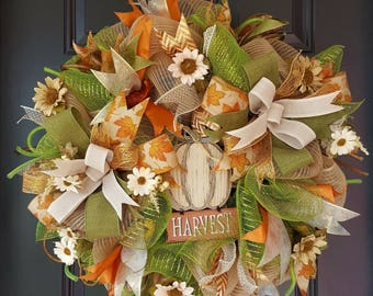 Harvest Thanksgiving/Fall wreath
