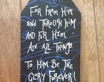 To Him be the glory - slate wall hanging
