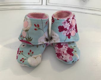 Toadstool Baby Booties- Size 0-3months