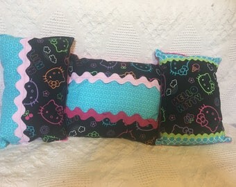3 Hello Kitty Pillows -- One of a Kind