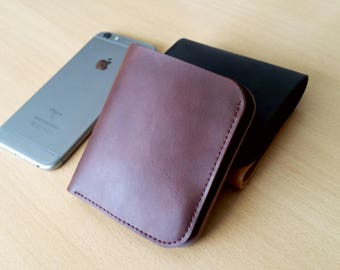 Leather wallet for men made by hand in three different colors