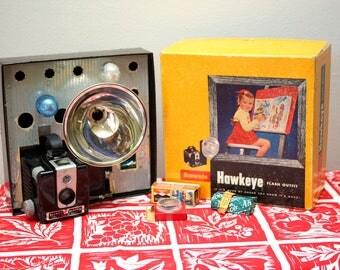Vintage Brownie Hawkeye Camera Flash Model Original Box