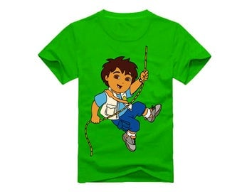 Go Diego Go T-Shirt for children - available in many sizes and colors