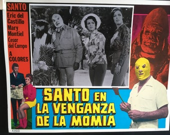 Complete set of 8 Lobby Cards Santo en la Venganza de la Momia (1971) Directed by René Cardona