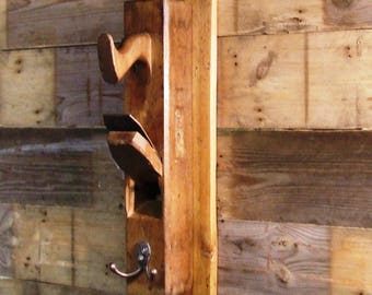 Carpenter's block plane coat hook