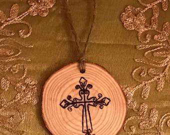 Woodburned Custom Christmas Ornament