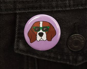 Cool Dog Beagle Badge