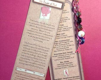 Bookmark - The Power of Pink Devotional Beads (c)
