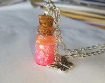 Tropical Butterfly Bottle Charm
