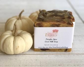 Pumpkin Soap Bar, Goat Milk Pumpkin Soap, Natural Christmas Gift, Handmade Soap, Natural Soap, Fall Soap,  Hostess Soap Gift