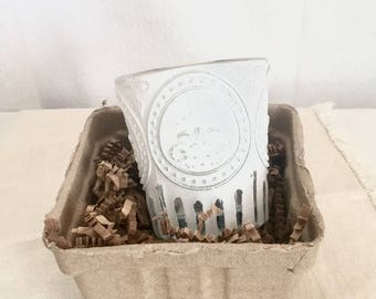 White Shabby Chic Votive