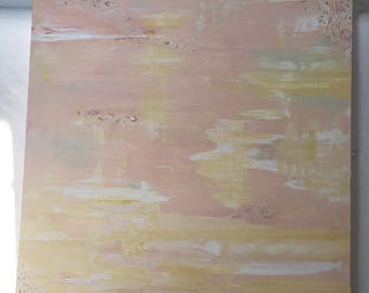 soft peach abstract