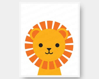Lion Nursery Wall Art Digital Download