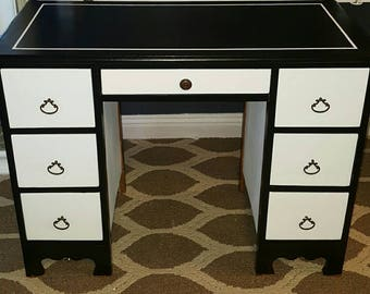 Hand Painted Antique Writing Desk