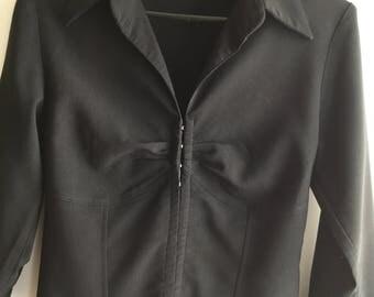 Vintage 90s Black Elegant Woman Formal Jacket Size M