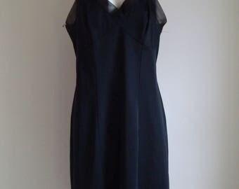 1960's St Michael 'Lingerie' Black Under Dress Slip