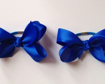 Blue boutique bow bobbles handmade bobbles boutique bow hair bow kids bobbles childrens bobbles