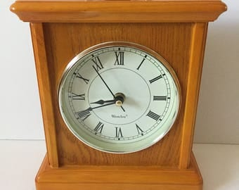 Westclox Wood Mantle Clock