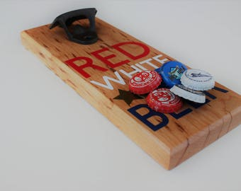bottle opener, fourth of july, craft beer, kitchenware, housewarming, anniversary, magnetic, independence day, celebrate, barware, soda