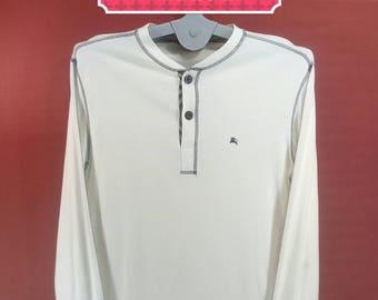 Vintage Burberrys Shirt Long Sleeve White Colour Size 3 Adidas Shirts Nike Sweatshirts Polo RL Shirts YSL Shirt Issey Miyake Shirts