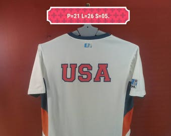 Vintage USA Football Jersey Spellout Shirt White Colour Size M Nike Jerseys Adidas Shirts Polo RL Shirts USA Nike Olympic Running Men