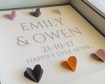 Personalised Gift, Wedding Gift, Engagement Gift, Anniversary Gift, Unique Wedding Gift Husband Gift Wife Gift Wedding/Anniversary, wedding