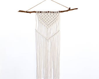 Rustic macrame wall hanging @ The West Village
