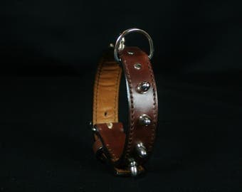 Dog leather cowhide and nickel plated nails sets