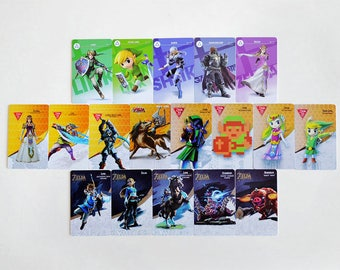 Zelda Amiibo Cards Breath of the Wild All 18 Complete Set